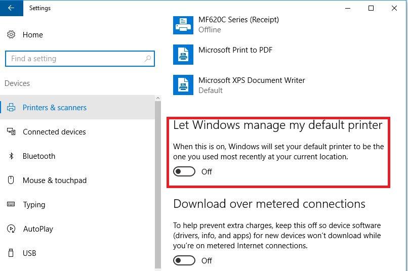 let-windows-manage-my-default-printer
