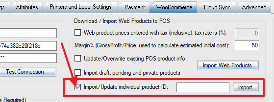 import single woocommerce product