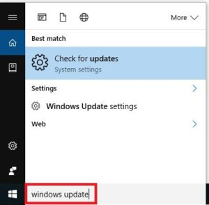 search-windows-update