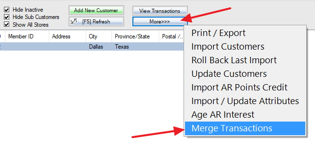 Make duplicated customer inactive and merge transactions