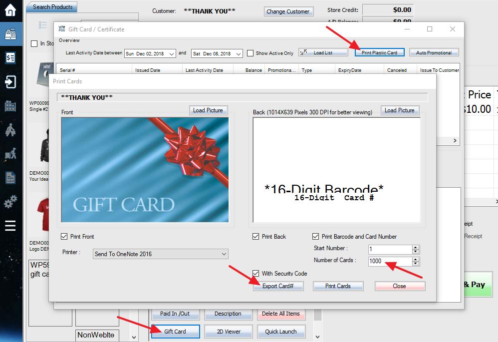 WooPOS create gift card serial numbers